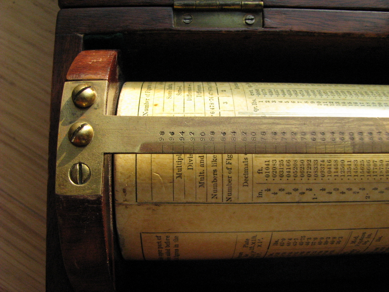 early Fuller's spiral slide rule for sale picture 1