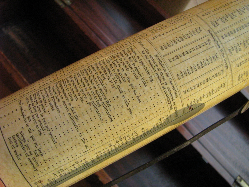 early Fuller's spiral slide rule for sale picture 8
