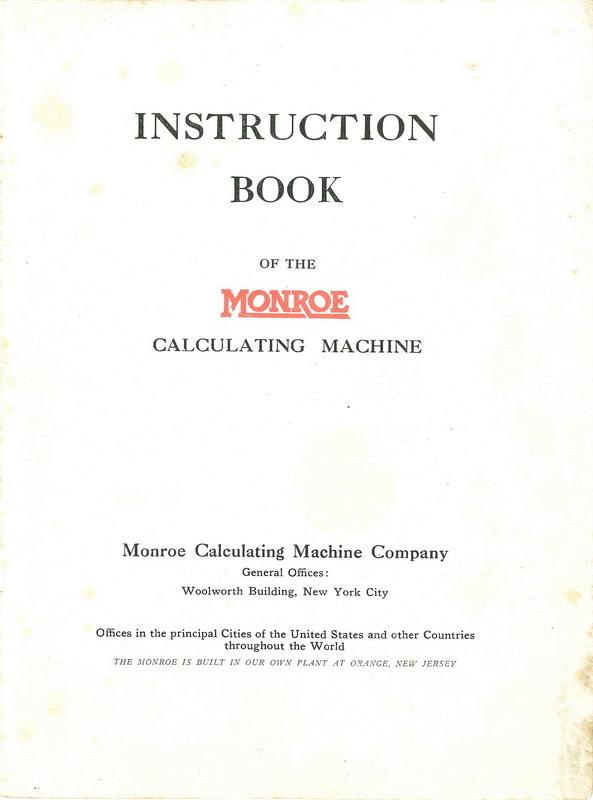 Monroe F instructions
