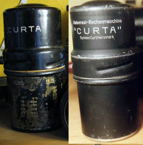 Very early and early Curta box comparison